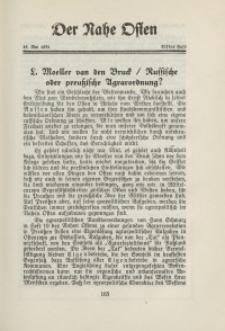 Der Nahe Osten, 15. Mai 1931, 4. Jahrgang, H. 11