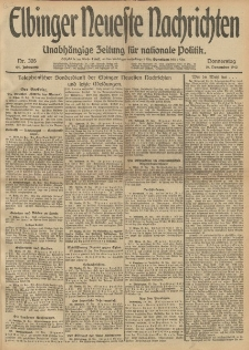 Elbinger Neueste Nachrichten, Nr. 308 Donnerstag 19 Dezember 1912 64. Jahrgang