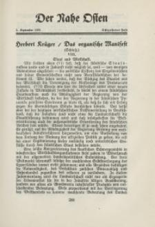 Der Nahe Osten, 1. September 1931, 4. Jahrgang, H. 18