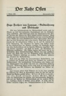 Der Nahe Osten, 1. Oktober 1931, 4. Jahrgang, H. 20