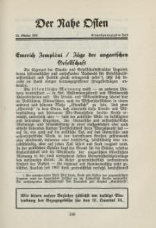 Der Nahe Osten, 15. Oktober 1931, 4. Jahrgang, H. 21