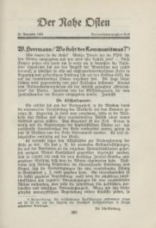 Der Nahe Osten, 15. Novemver 1931, 4. Jahrgang, H. 23