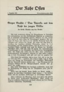 Der Nahe Osten, 1. Dezember 1931, 4. Jahrgang, H. 24