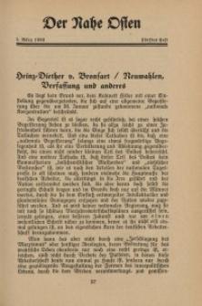 Der Nahe Osten, 1. März 1933, 6. Jahrgang, H. 5