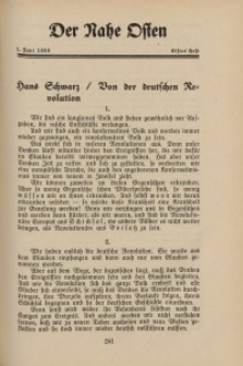 Der Nahe Osten, 1. Juni 1933, 6. Jahrgang, H. 11