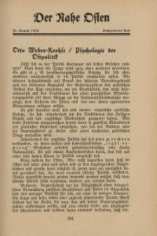 Der Nahe Osten, 15. August 1933, 6. Jahrgang, H. 16
