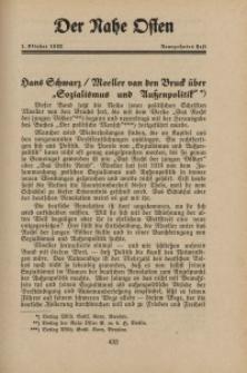 Der Nahe Osten, 1. Oktober 1933, 6. Jahrgang, H. 19