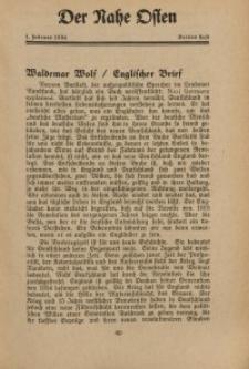 Der Nahe Osten, 1. Februar 1934, 7. Jahrgang, H. 3