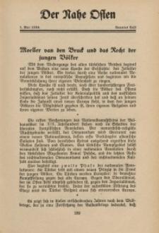Der Nahe Osten, 1. Mai 1934, 7. Jahrgang, H. 9