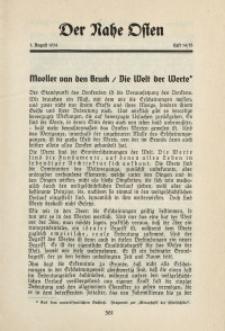 Der Nahe Osten, 1. August 1934, 7. Jahrgang, H. 14-15