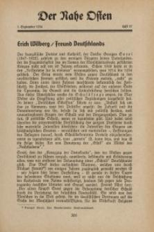 Der Nahe Osten, 1. September 1934, 7. Jahrgang, H. 17