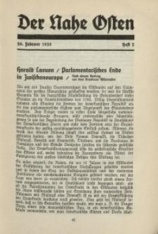 Der Nahe Osten, 20. Februar 1935, 8. Jahrgang, H. 2