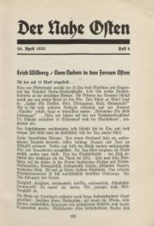 Der Nahe Osten, 20. April 1935, 8. Jahrgang, H. 4