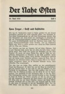 Der Nahe Osten, 20. Juni 1935, 8. Jahrgang, H. 6