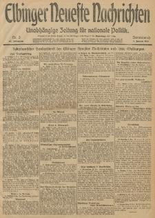 Elbinger Neueste Nachrichten, Nr. 3 Sonnabend 4 Januar 1913 65. Jahrgang