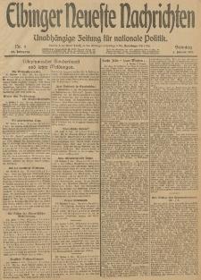 Elbinger Neueste Nachrichten, Nr. 4 Sonntag 5 Januar 1913 65. Jahrgang