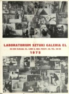 Laboratorium Sztuki Galeria EL - afisz