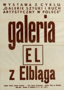 Wystawa w Galerii EL - afisz