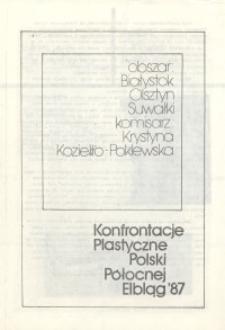 II Konfrontacje Plastyczne Polski Północnej 1987 – komisarz: Krystyna Koziełło-Poklewska