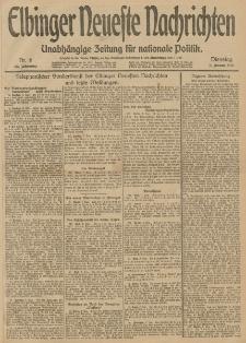Elbinger Neueste Nachrichten, Nr. 6 Dienstag 7 Januar 1913 65. Jahrgang
