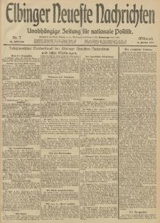 Elbinger Neueste Nachrichten, Nr. 7 Mittwoch 8 Januar 1913 65. Jahrgang