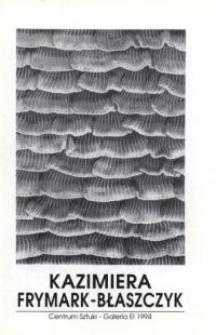 Kazimiera Frymark-Błaszczyk – folder