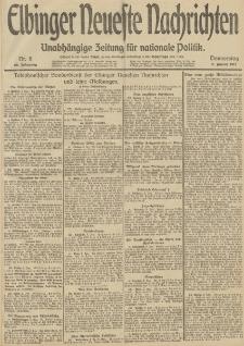 Elbinger Neueste Nachrichten, Nr. 8 Donnerstag 9 Januar 1913 65. Jahrgang