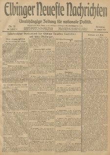 Elbinger Neueste Nachrichten, Nr. 11 Sonntag 12 Januar 1913 65. Jahrgang
