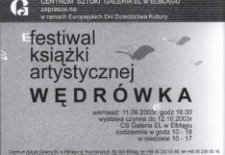 """VII Międzynarodowy Festiwal Książki Artystycznej: """"Wędrówka"""" – zaproszenie na wystawę"""