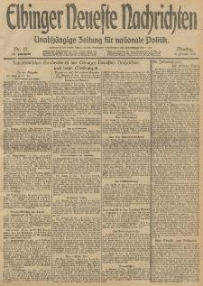Elbinger Neueste Nachrichten, Nr. 12 Montag 13 Januar 1913 65. Jahrgang