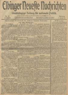 Elbinger Neueste Nachrichten, Nr. 13 Dienstag 14 Januar 1913 65. Jahrgang