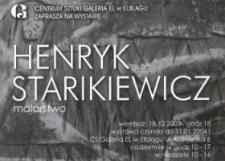 Henryk Starikiewicz: malarstwo – zaproszenie na wystawę