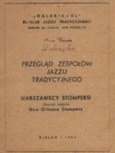 Przegląd Zespołów Jazzu Tradycyjnego - broszura