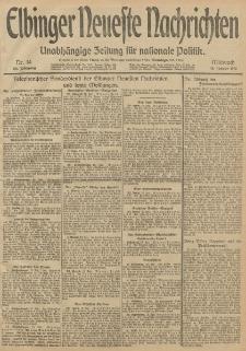 Elbinger Neueste Nachrichten, Nr. 14 Mittwoch 15 Januar 1913 65. Jahrgang