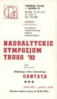 Nadbałtyckie sympozjum Truso '92 – zaproszenie na wystawę i konferencję