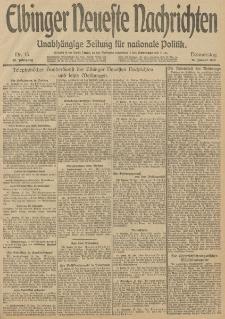 Elbinger Neueste Nachrichten, Nr. 15 Donnerstag 16 Januar 1913 65. Jahrgang