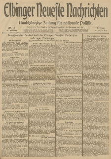 Elbinger Neueste Nachrichten, Nr. 16 Freitag 17 Januar 1913 65. Jahrgang
