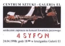 4 Syfon – zaproszenie na koncert jazzowy