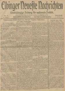 Elbinger Neueste Nachrichten, Nr. 17 Sonnabend 18 Januar 1913 65. Jahrgang