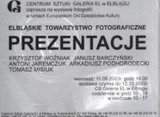 Elbląskie Towarzystwo Fotograficzne: prezentacje – zaproszenie na wystawę