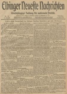 Elbinger Neueste Nachrichten, Nr. 18 Sonntag 19 Januar 1913 65. Jahrgang
