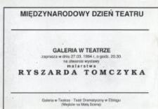 Ryszard Tomczyk: malarstwo - zaproszenie