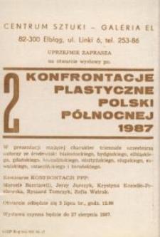 II Konfrontacje Plastyczne Polski Północnej 1987 – zaproszenie na wystawę