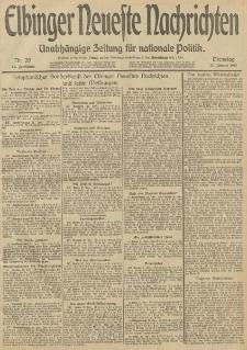 Elbinger Neueste Nachrichten, Nr. 20 Dienstag 21 Januar 1913 65. Jahrgang