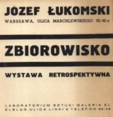 """Józef Łukomski: """"Zbiorowisko"""" - folder"""