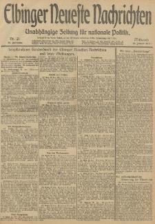 Elbinger Neueste Nachrichten, Nr. 21 Mittwoch 22 Januar 1913 65. Jahrgang