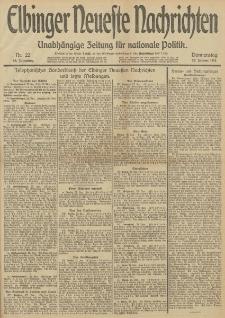 Elbinger Neueste Nachrichten, Nr. 22 Donnerstag 23 Januar 1913 65. Jahrgang