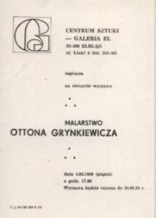 Otton Grynkiewicz: malarstwo – zaproszenie na wystawę