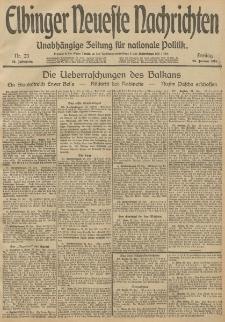 Elbinger Neueste Nachrichten, Nr. 23 Freitag 24 Januar 1913 65. Jahrgang