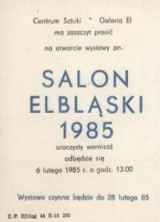 Salon Elbląski 1985 – zaproszenie na wystawę